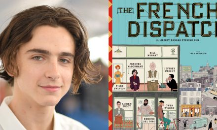 Timothee Chalamet Wears No Clothes in 'French Dispatch' Poster & Fans Can't Handle It