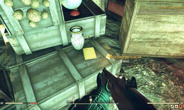 Fallout 76: Strength in Numbers Guide – Assaultron showroom door code
