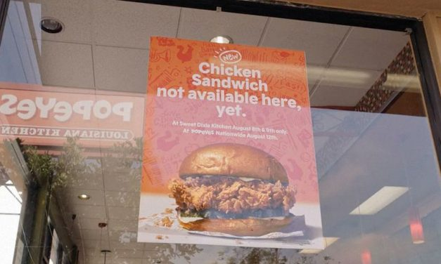 Popeyes resurrects a food-world controversy to introduce its chicken sandwich