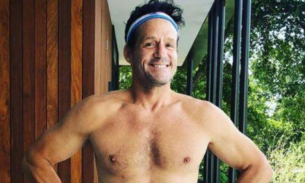 Cougar Town's Josh Hopkins Shows Off Fit Body in Patriotic Swimwear!