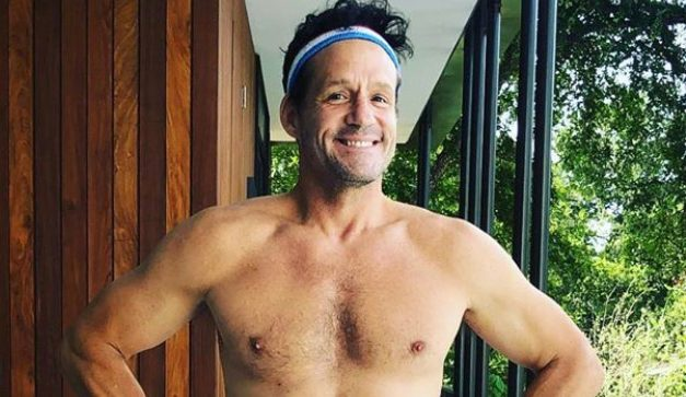 Cougar Town's Josh Hopkins Shows Off Fit Body in Patriotic Swimwear!