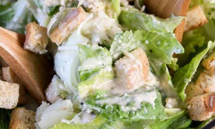 Best Ever Caesar Salad (Homemade Dressing)