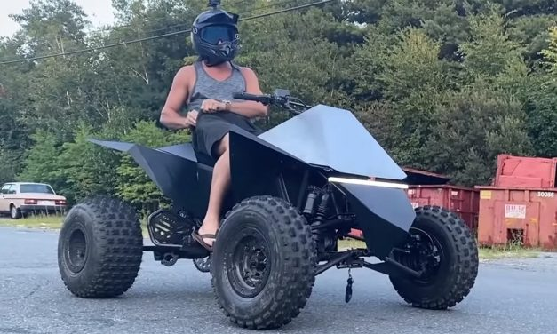YouTuber Builds His Own Tesla Cyberquad That Hits 102 MPH