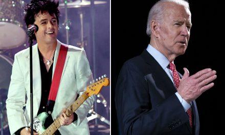"Green Day's Billie Joe Armstrong backs Joe Biden: ""Trump has got to go"""