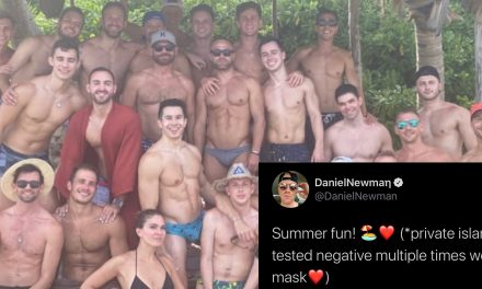 People are mocking this group's 'summer fun' photo on private island with memes