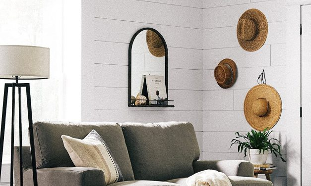 Chic Mirrors with Shelves That'll Give You Extra Storage