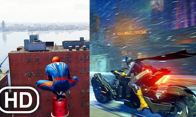 PS5 Gameplay Comparison – Spider-Man Vs Batman Gotham Knights 4K ULTRA HD