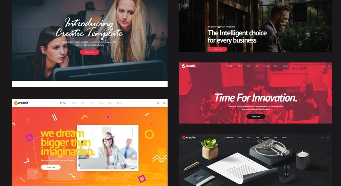 10 Great One Page Website Templates