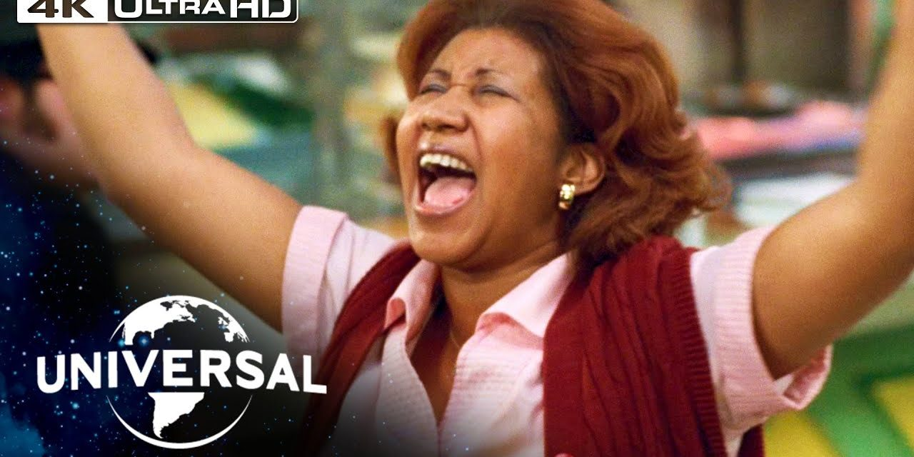 """The Blues Brothers   Aretha Franklin Sings """"Think"""" in 4K HDR"""