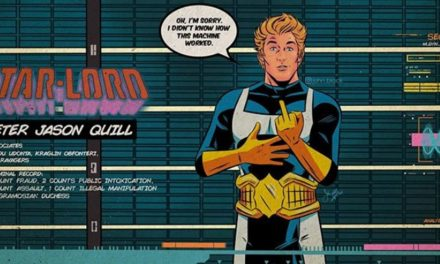 Star-Lord Giving The Finger in Guardians Gets A Retro Marvel Makeover
