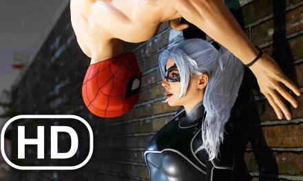 Undies Spider-Man Kisses Black Cat Almost Scene 4K ULTRA HD – Spider-Man Remastered PS5