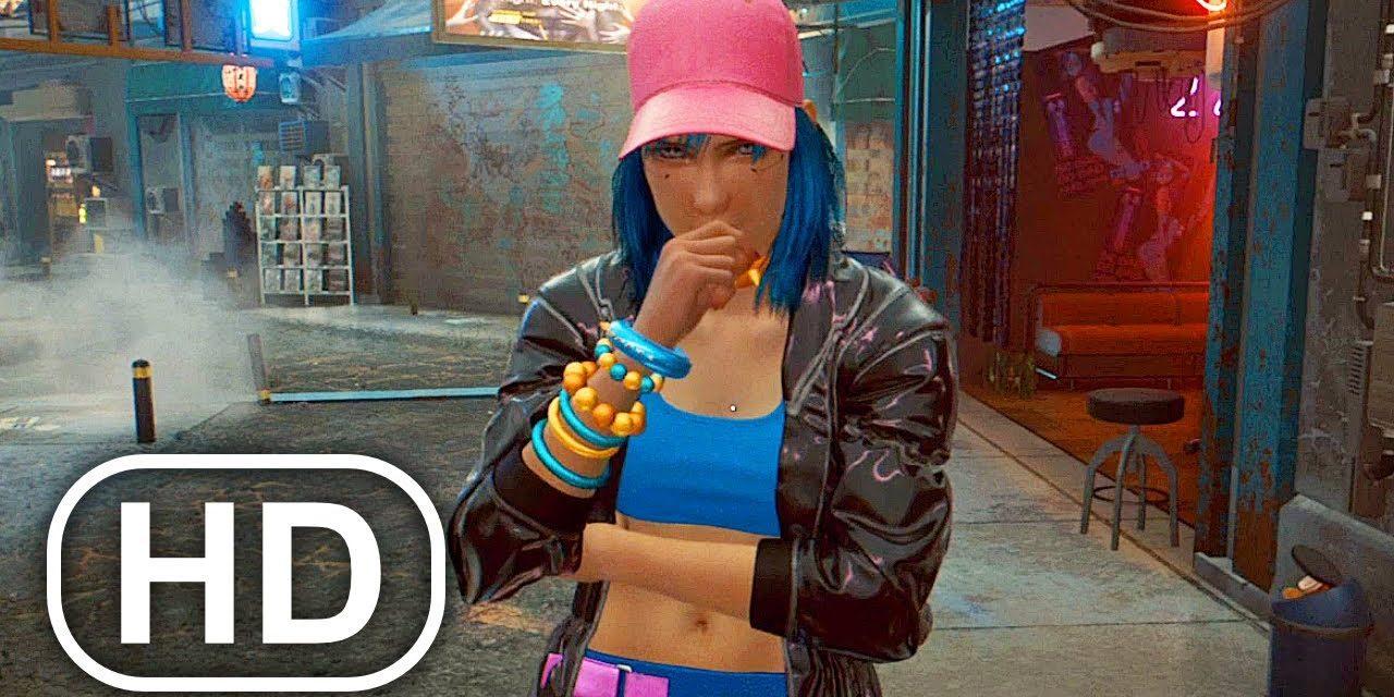 CYBERPUNK 2077 Stalker Girl Fanboy Fights V Scene (Full Mission)