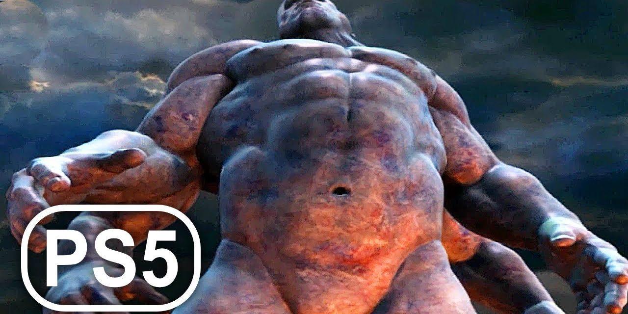 GOD OF WAR 2 PS5 Gods Vs Titans Fight Scene Cinematic 4K ULTRA HD – Playstation NOW