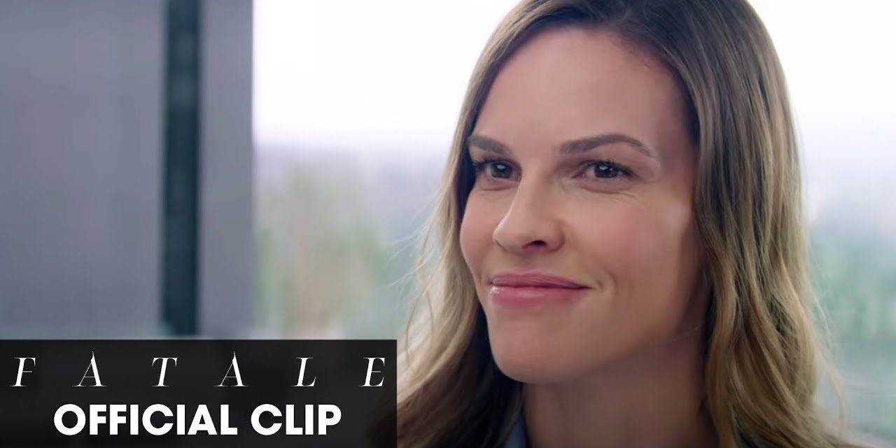 """Fatale (2020 Movie) Official Clip """"Am I Interrupting Something"""" – Hilary Swank, Michael Ealy"""