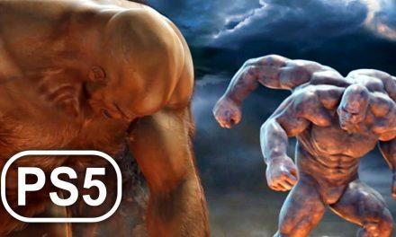 GOD OF WAR 3 PS5 Gods Vs Titans Fight Scene Cinematic 4K ULTRA HD