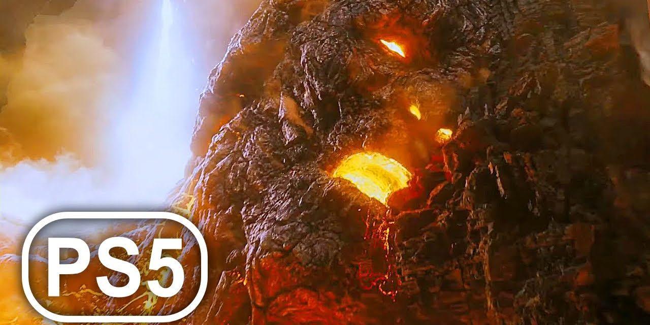 GOD OF WAR PS5 Volcano Titan Boss Fight Gameplay 4K ULTRA HD – God Of War 3 Remastered