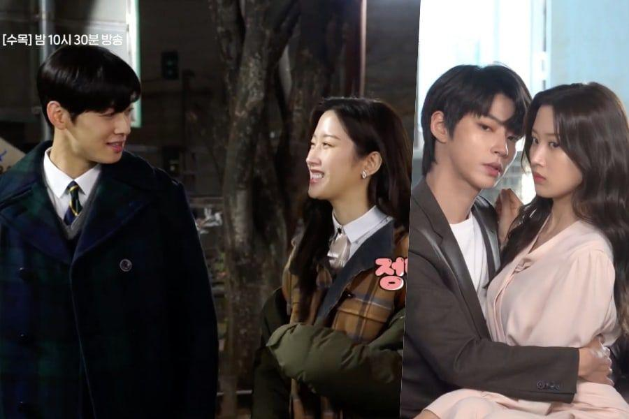 """Watch: Cha Eun Woo And Moon Ga Young Bicker Over Hand Holding + Hwang In Yeob Gets Shy Behind The Scenes Of """"True Beauty"""""""