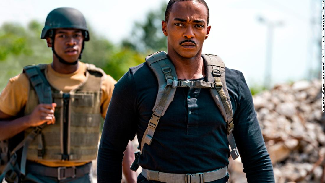 'Outside the Wire' stars Anthony Mackie in a sci-fi movie that thinks inside the box