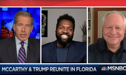 Brian Williams brings the funny with spot-on mockery of McCarthy and Trump reunion