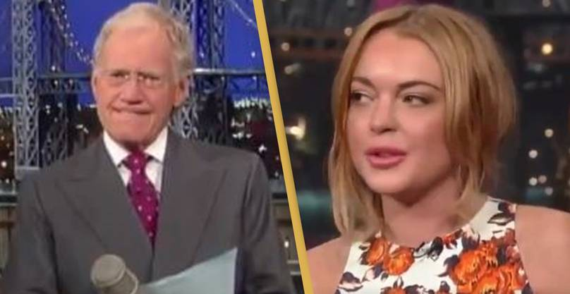David Letterman Criticised After 'Horrifying' Interview With Lindsay Lohan Resurfaces