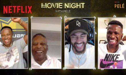 Pelé hangs out with Neymar, Thiaguinho and Vinicius Jr! | Movie Night | Netflix