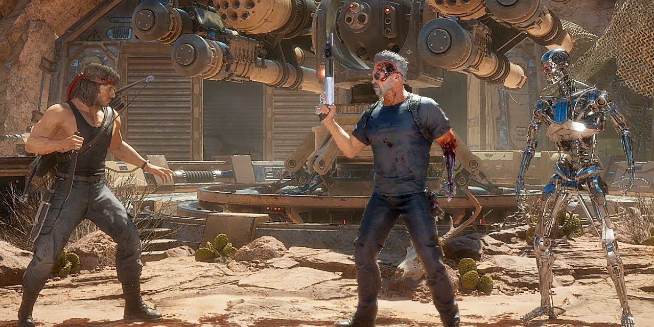 RAMBO VS TERMINATOR Fight Scene FULL BATTLE 4K (2021) Arnold Schwarzenegger, Sylvester Stallone MK11
