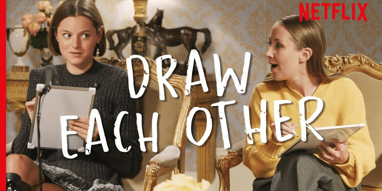 Emma Corrin and Erin Doherty Draw Each Other In 4 Minutes   The Crown
