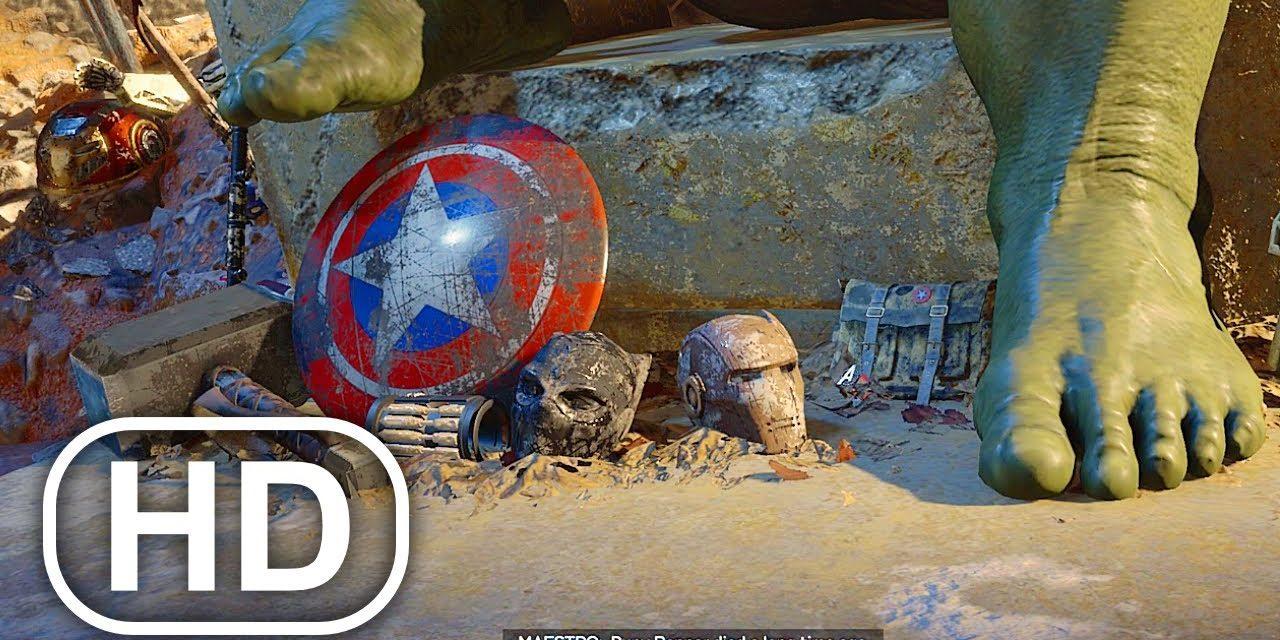 All Avengers Are Dead In Future Earth Scene 4K ULTRA HD – Marvel's Avengers Hawkeye DLC