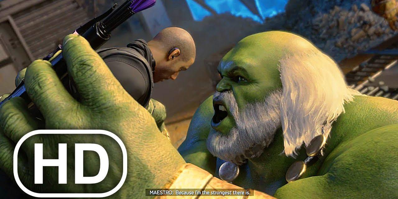 Marvel's Avengers Maestro Hulk Eats Hawkeye Almost Scene 4K ULTRA HD
