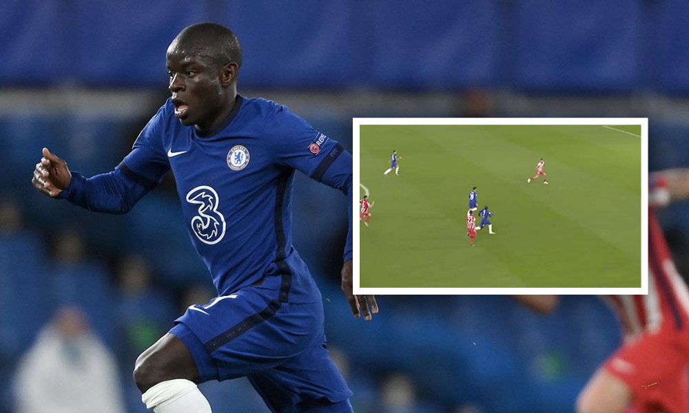 (Video): Kante's intense 8 second 'dummy sprint' against Atletico Madrid