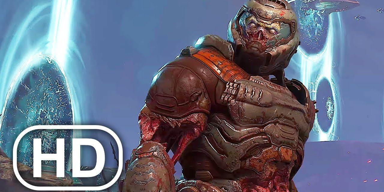 ZOMBIE Doomguy Avengers Portals Scene 4K ULTRA HD – DOOM ETERNAL THE ANCIENT GODS PART 2