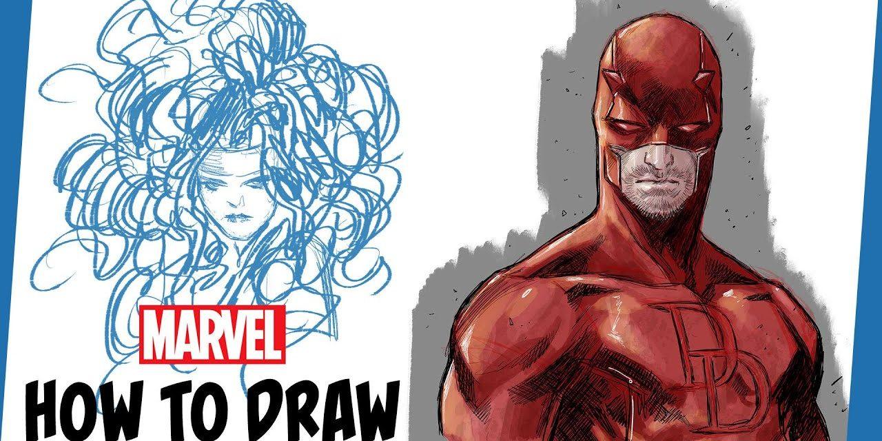 How to Draw Daredevil w/ Marco Checchetto | IN ITALIANO