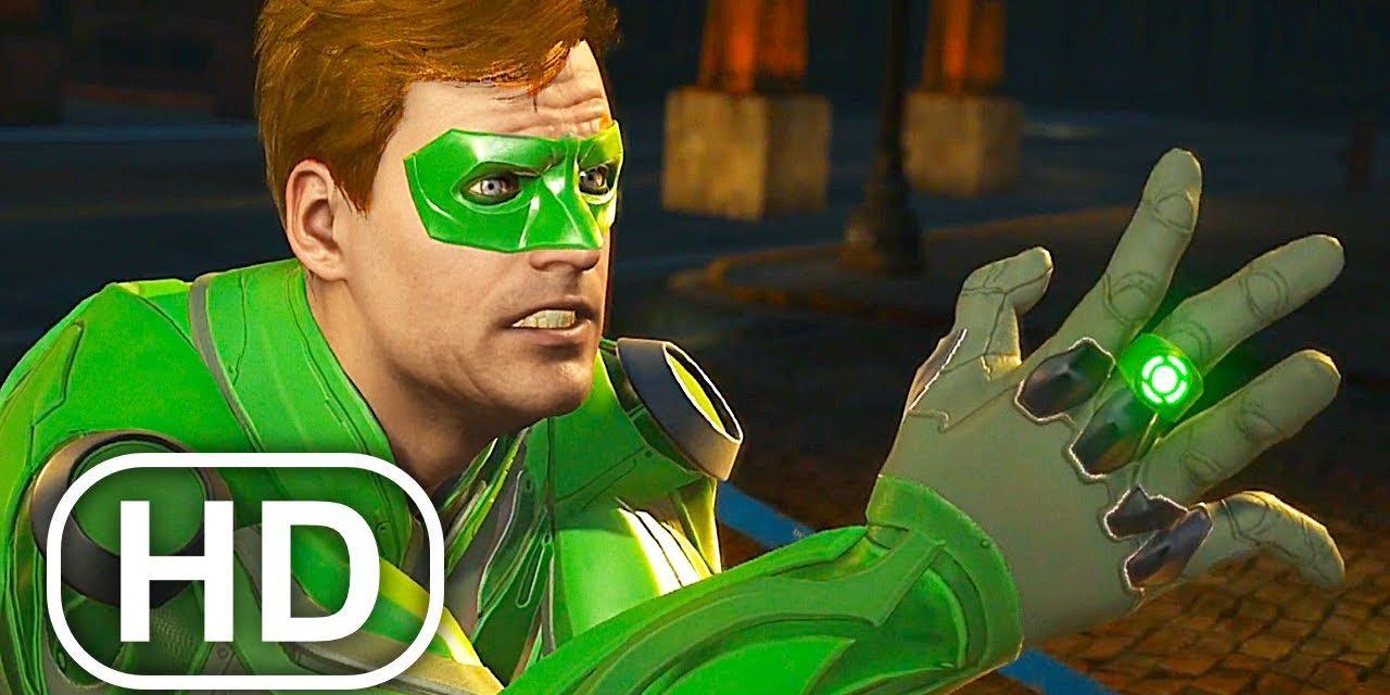 JUSTICE LEAGUE Superman Breaks Green Lantern's Hand Scene 4K ULTRA HD – Injustice 2 Cinematic
