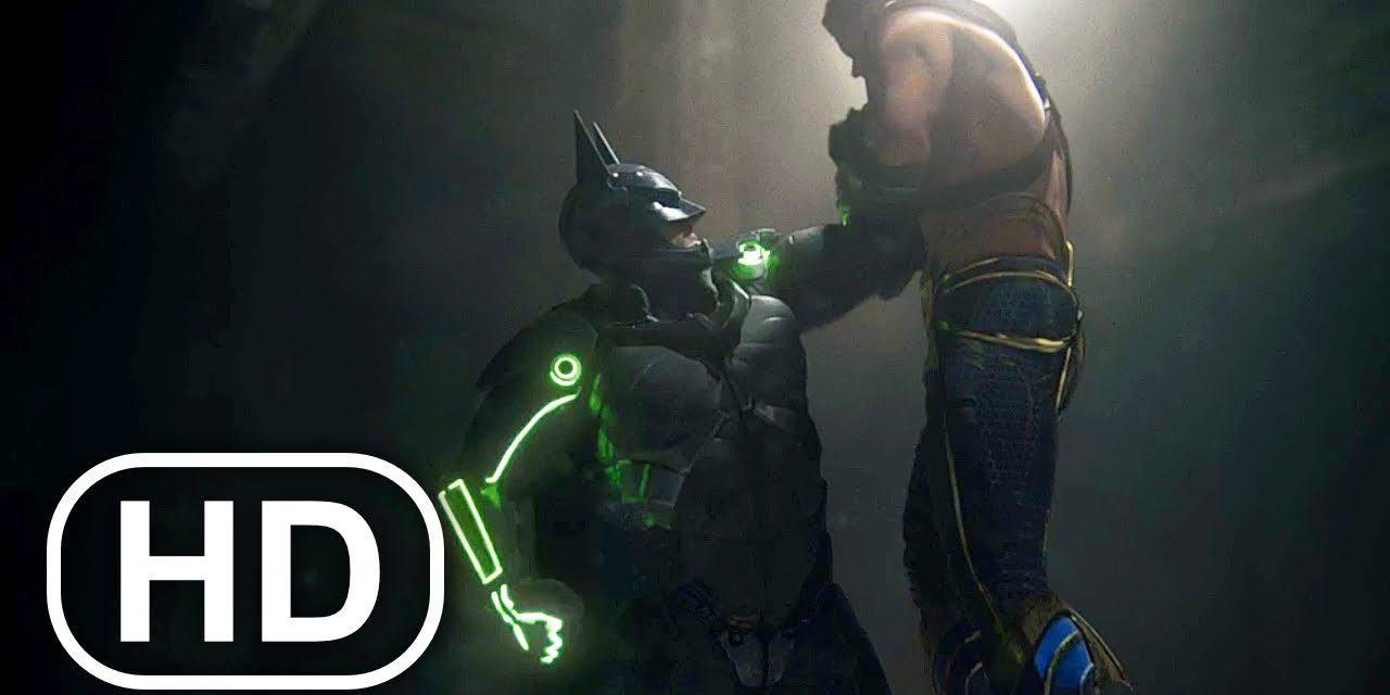 JUSTICE LEAGUE Batman Vs Aquaman Fight Scene 4K ULTRA HD – Injustice 2 Cinematic