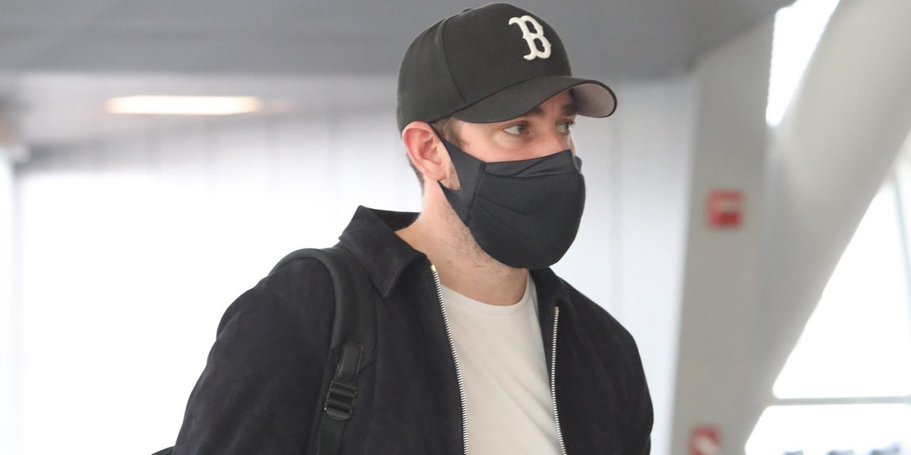 John Krasinski Tries to Keep a Low Profile While Jetting Out of NYC