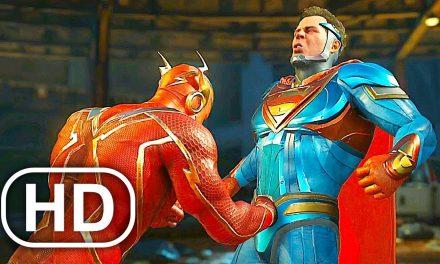 JUSTICE LEAGUE Flash Vs Superman Fight Scene 4K ULTRA HD – Injustice 2 Cinematic
