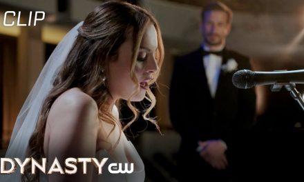 Dynasty | Season 4 Episode 2 | Fallon Sings At Wedding Scene | The CW