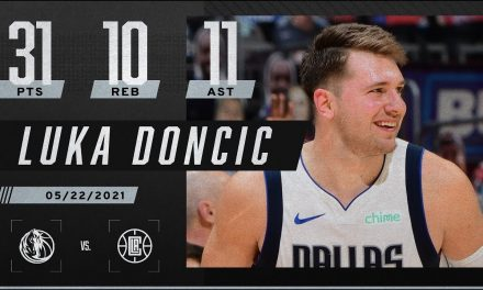 Luka Doncic drops a TRIPLE-DOUBLE on the Clippers in Game 1 ‼️