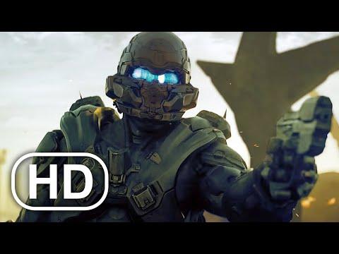 Spartan Locke Destroys Entire Alien Planet Scene 4K ULTRA HD – Halo Cinematic