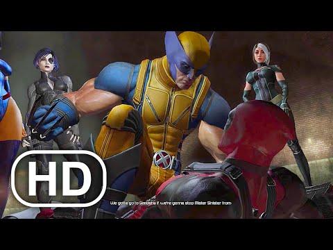 Deadpool Meets Wolverine & X-MEN Team Scene 4K ULTRA HD