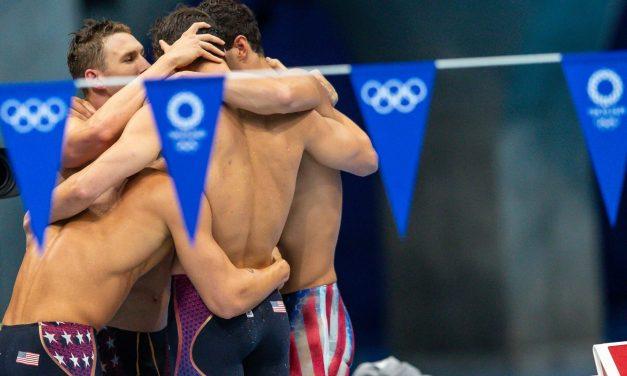 USA Men's 400 Medley Relay Breaks World Record to Keep Olympic Streak Alive