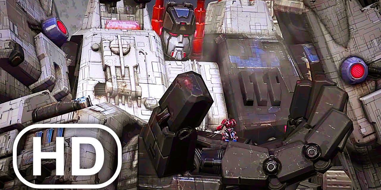 Transformers Metroplex Sacrifices Himself To Save Optimus Prime Scene 4K ULTRA HD