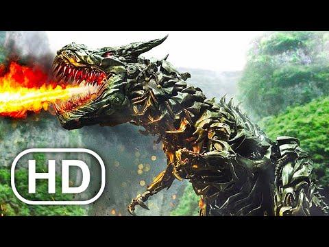 Transformers Grimlock Using New Dinosaur Powers First Time Scene 4K ULTRA HD
