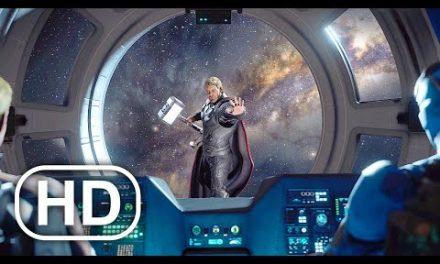 AVENGERS ENDGAME Thor Saves Iron Man & Captain America In Space Scene 4K ULTRA HD