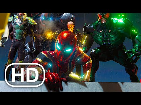 Tom Holland Spider-Man Vs Sinister Six Fight Scene 4K ULTRA HD – Spider-Man No Way Home Suit