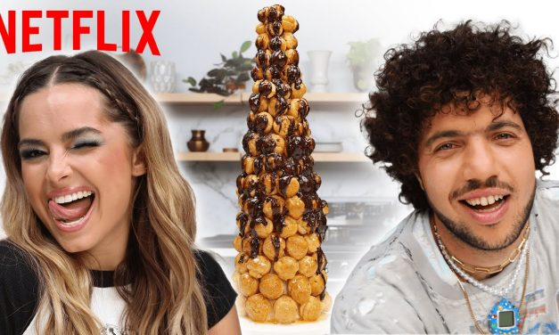 Addison Rae and Benny Blanco Try to Recreate the Croquembouche In He's All That   Netflix