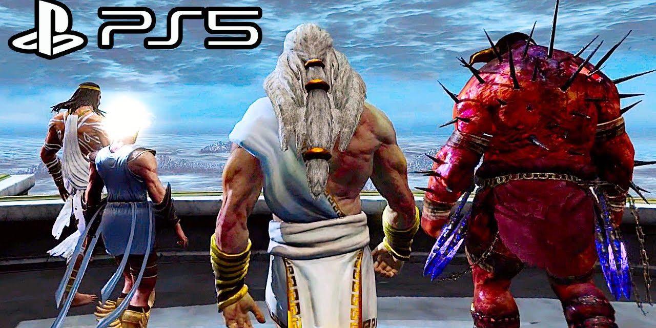 GOD OF WAR PS5 Gods Vs Titans Opening Fight Scene 4K ULTRA HD