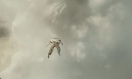 Kanye West flies through the clouds in music video for '24'